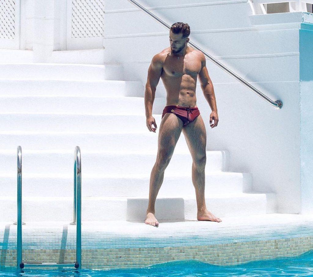 Kevin De La Cruz posing in Teamm8 Underwear