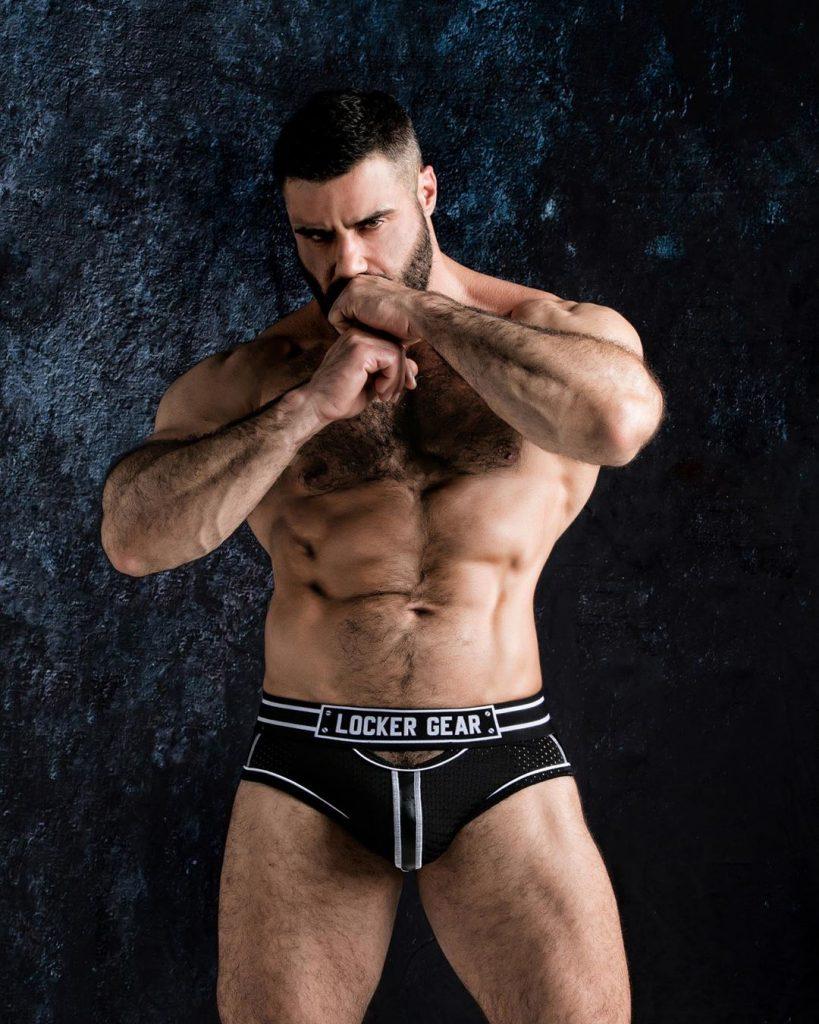 Yesu Toro in Locker Gear Underwear