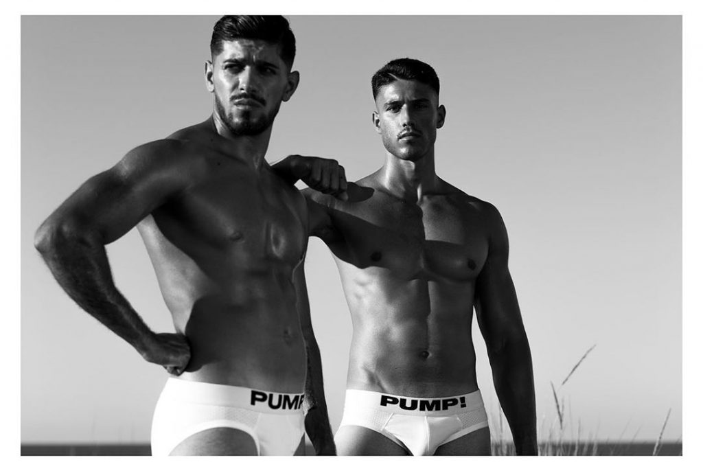 Raffaele Urzo and Mauro Aquiles wearing Pump underwear