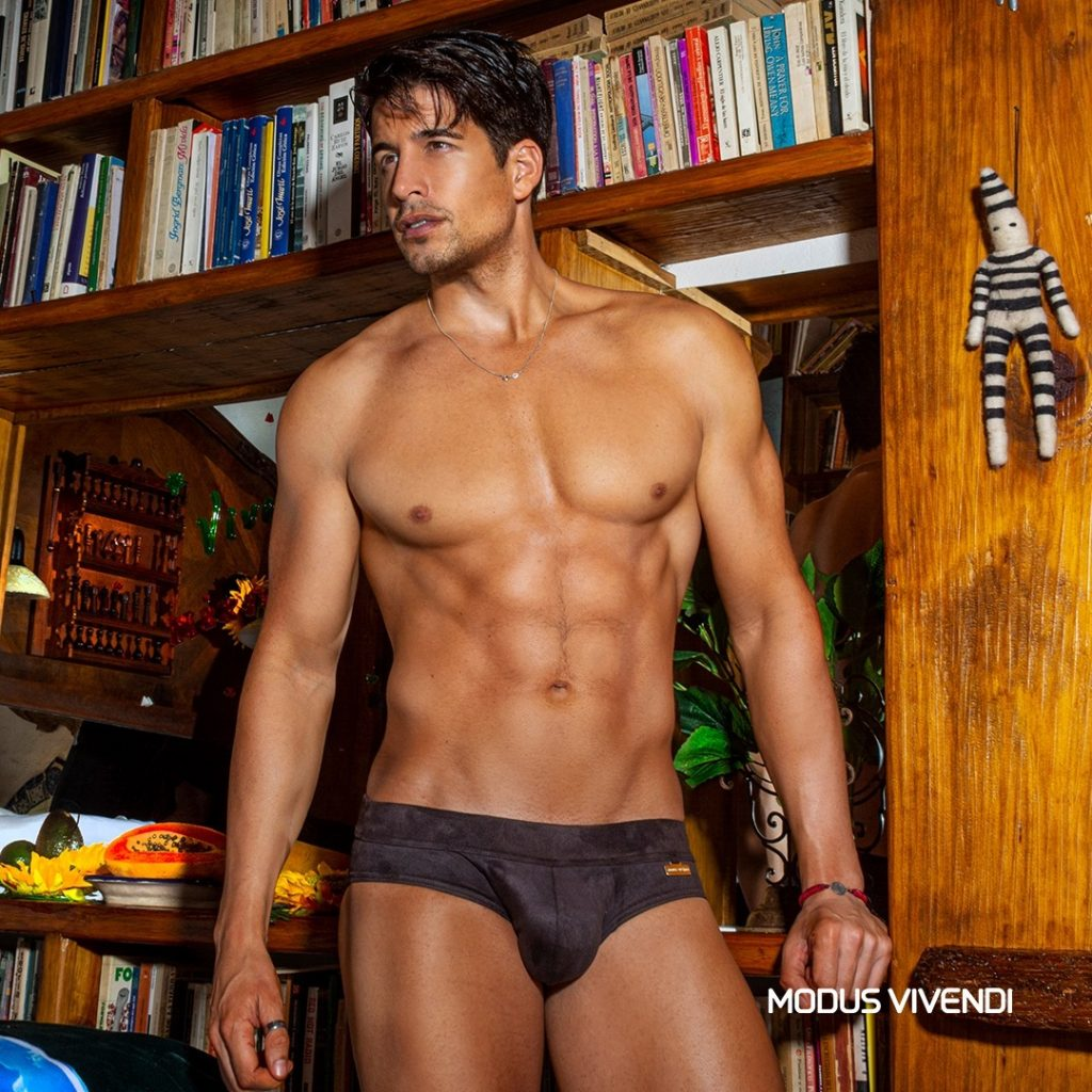 Model wearing Suede line by Modus Vivendi