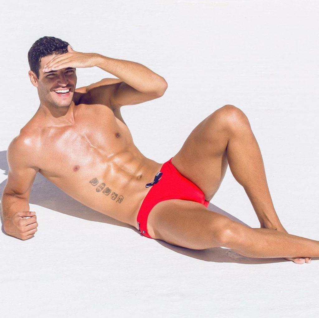 model in Teamm8 underwear
