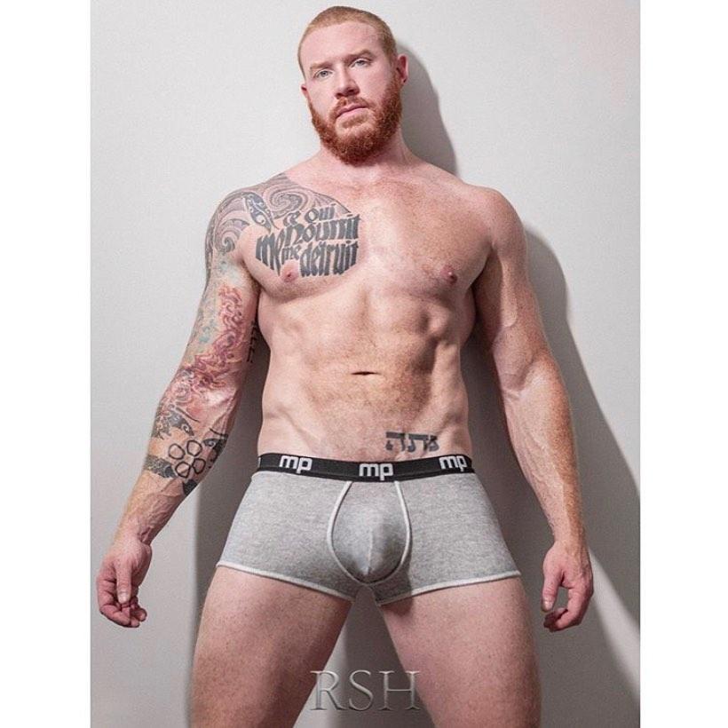 Model in Male Power Underwear