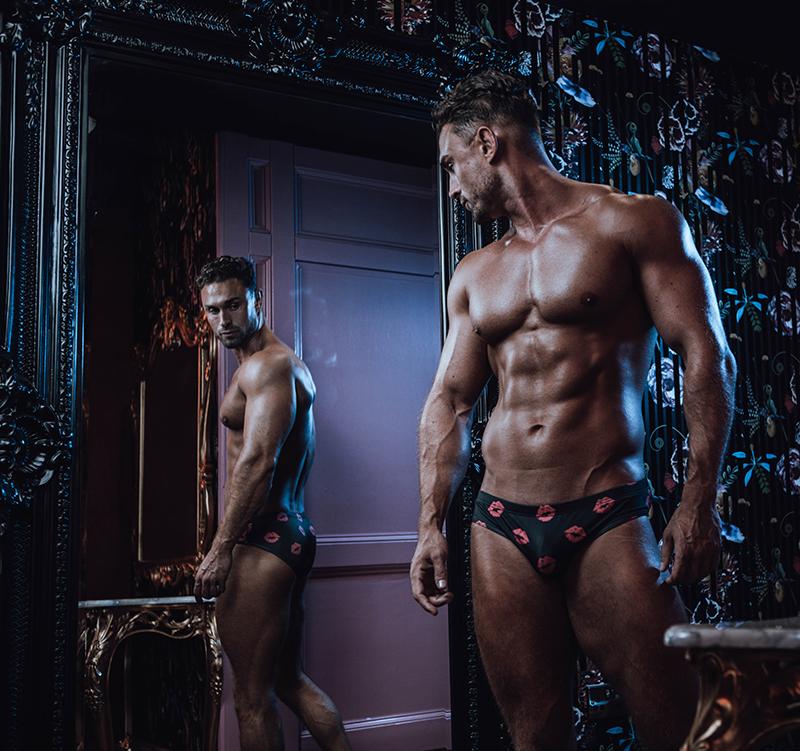 Ben Dudman posing in front of mirror