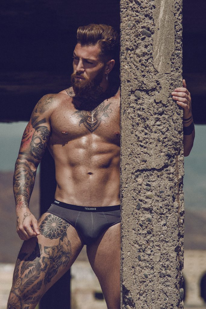 Model Kevin Carlos wearing Teamm8 underwear