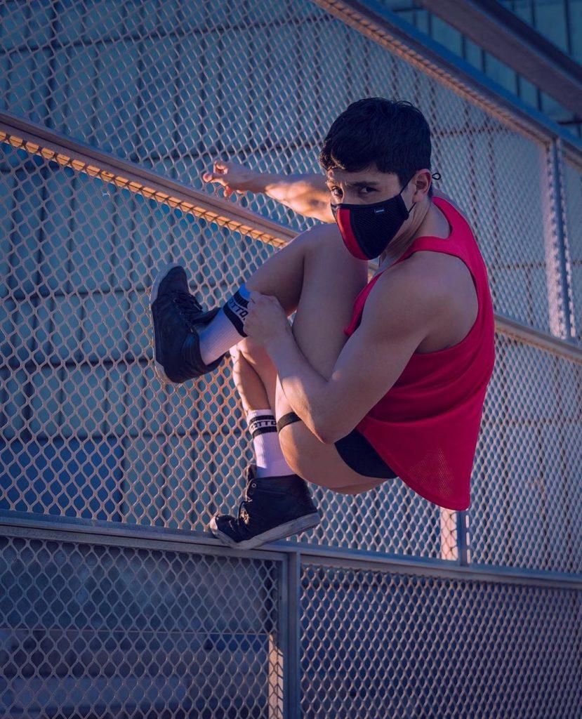 Model wearing Barcode Berlin jockstrap underwear for men