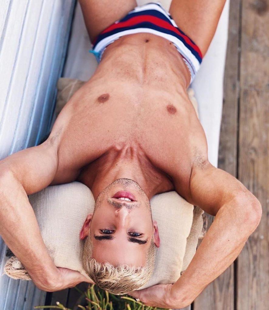 Model posing in Timoteo Swim Brief Underwear for Men