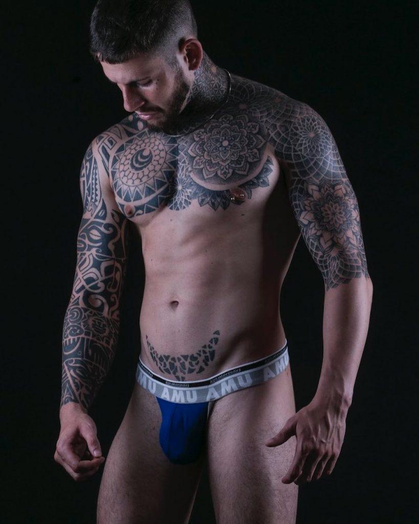 model in AMU underwear