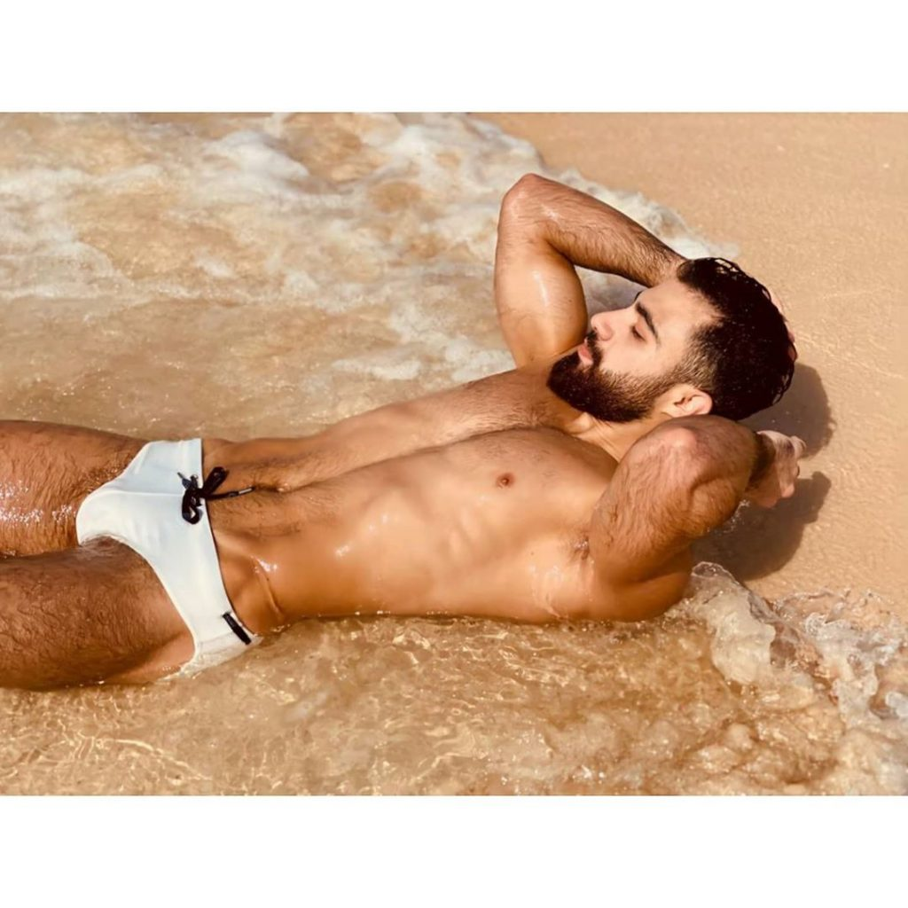 Ali Daoud in Teamm8 Mens Swim Brief