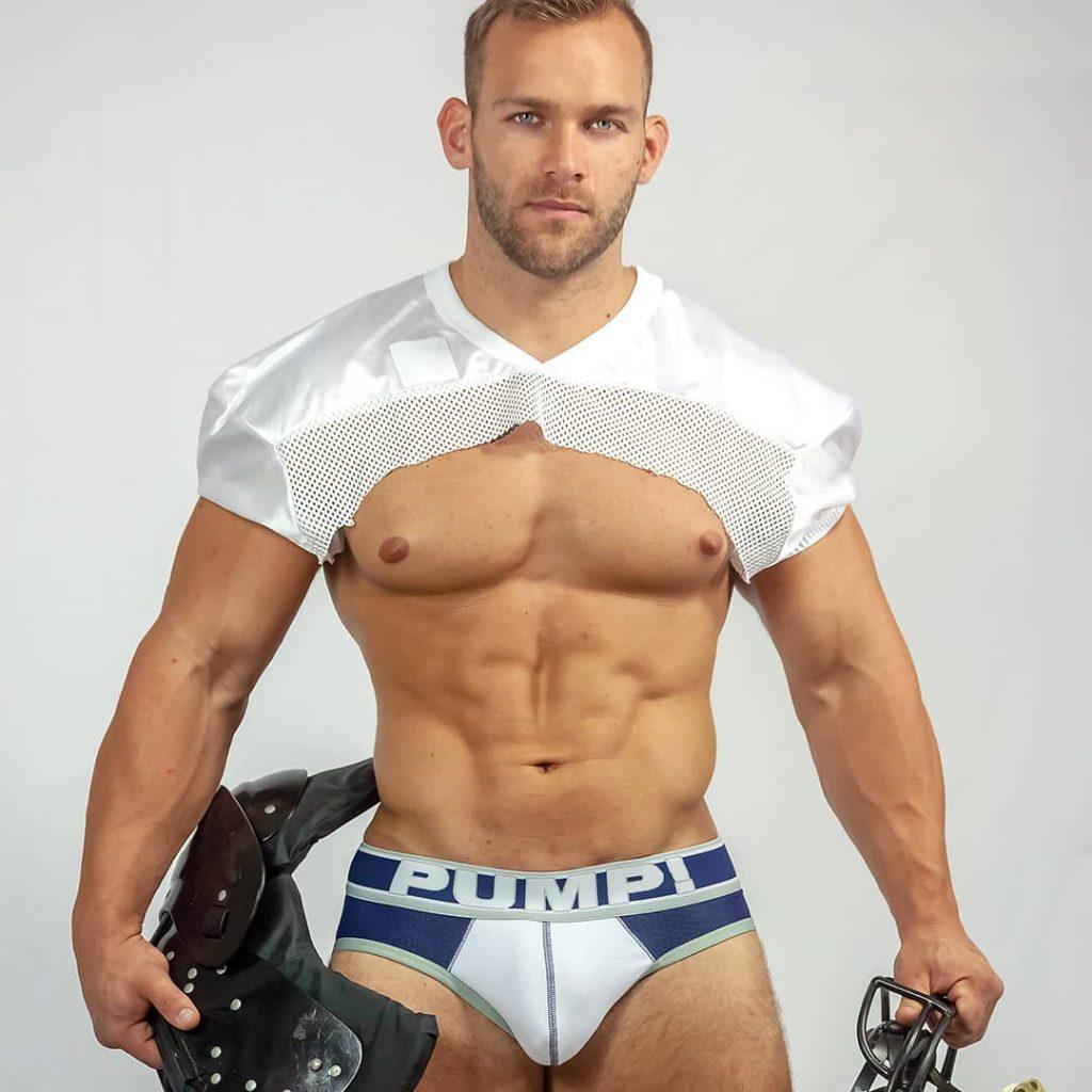 Model Aaron Kuttler in PUMP underwear