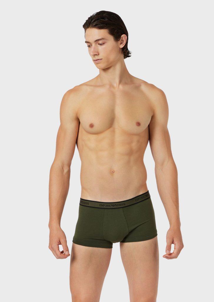Model in Emporio Armani underwear