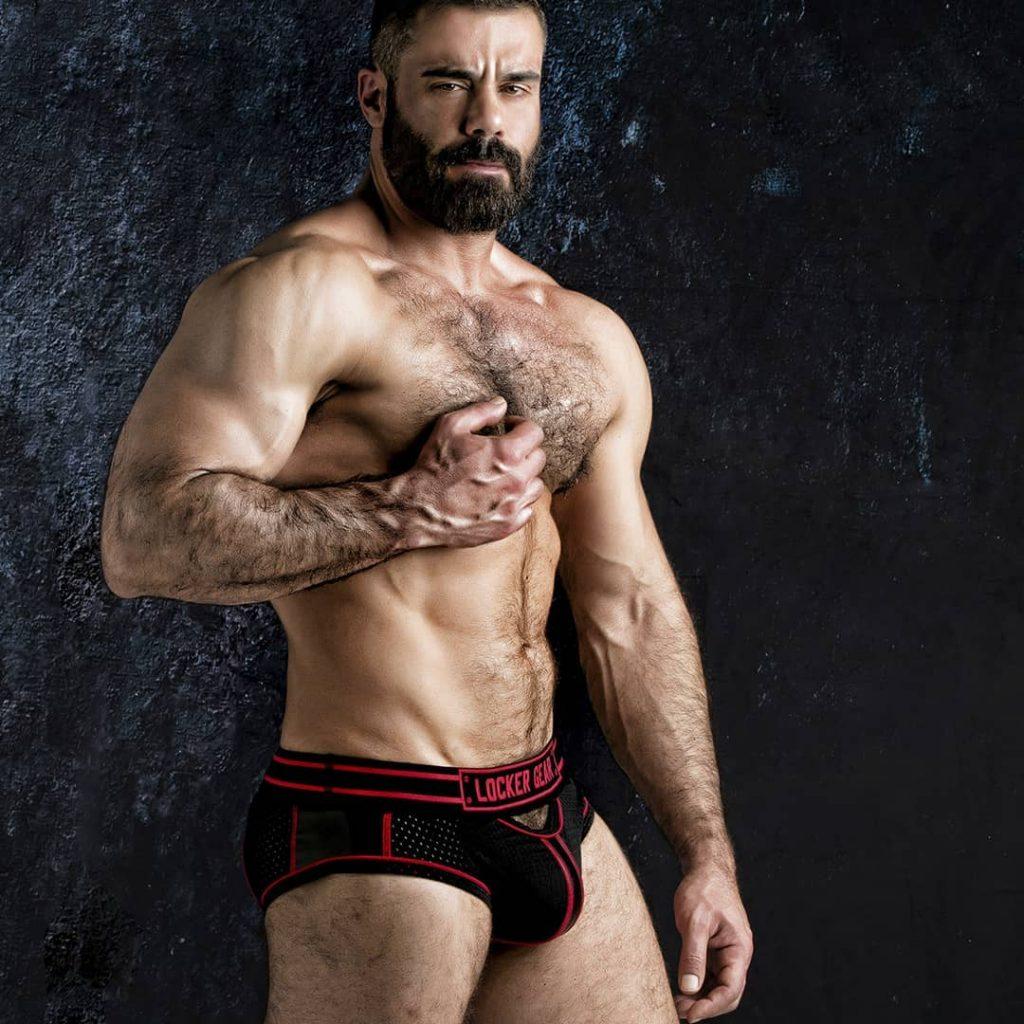 Model in Men's erotic underwear