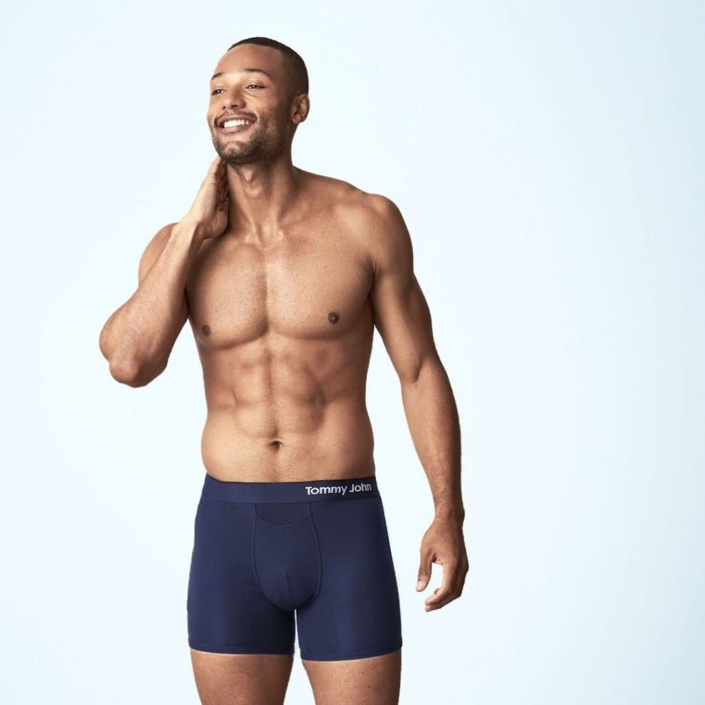 Model in Men's Trunk Underwear