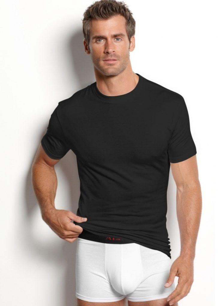Model in Alfani underwear