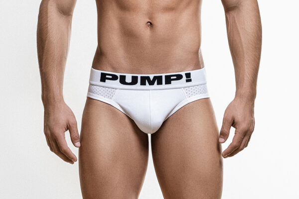 Pump White Classic Brief for men