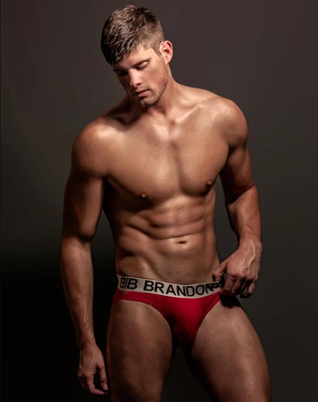 Model in Bill And Brandon Underwear