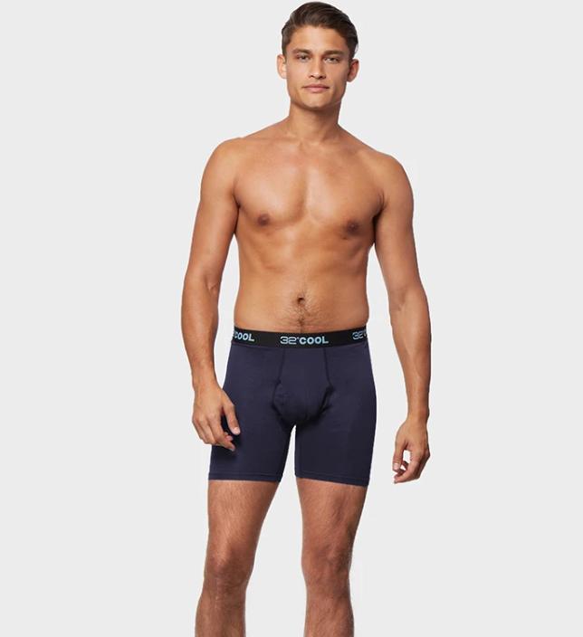 Model in 32 Degrees Underwear