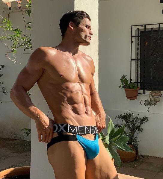 Mens hot underwear model